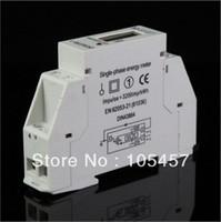 Одиночная фаза LCD 5 (32A) 220VAC 60Hz DIN-рельс киловатт-час kwh счетчик энергии заказ $ 18no трек
