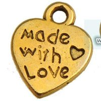 vintage gold heart charms new diy fashion jewelry findings c...