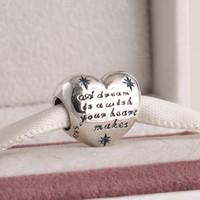 Pandora stil bilezikler için uygun bahar 2015 yeni cinderella kalp charms cz 925 ayar gümüş takı ile