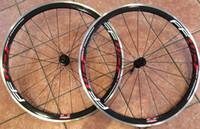 FFWD سبيكة ألياف الكربون سباق العجلات الدراجة العجلات 38 ملليمتر حافة 3K لامعة / ماتي الانتهاء من الألومنيوم الفرامل