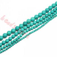 Livraison Gratuite En Gros 4MM 6MM 8MM 10MM Naturel Bleu Turquoise Pierre Perles Pour Bracelet Collier DIY Making (F00249)