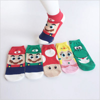 Lovely Mario Socks calcetines de bebé de dibujos animados calcetín de invierno Lovely for Girl Women calcetines de algodón de DHL GRATIS