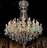 초대형 크리스탈 샹들리에 조명 호텔 샹들리에 크리스탈 상품에 대한 높은 천장 샹들리에 Entryway
