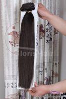 """Excellent jet noir n ° 1 Remy brut Remy Clip droite sur les extensions de cheveux humains 70g 100g 120g Tête complète 14 """"-24"""""""