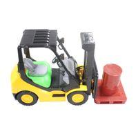 Elektrische Fernbedienung Wireless Control Full Functional Lager LKW Auto Gabelstapler Spielzeug mit Lichtern, Palette und Fass vorgeben spielen für Kind Kind