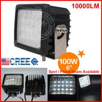 "DHL 2 ШТ. 6 ""100 Вт 20LED * 5 Вт CREE LED Driving Work Light Квадратный внедорожный внедорожник ATV 4WD 4x4 Spot / Flood Beam 9-30V 10000lm POWER Heavy Duty Truck"