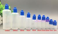 Leere e Flüssigkeit cig Flasche 3ml 5 ml 10 ml 15 ml 20 ml 30 ml 50 ml 60 ml 100 ml 120 ml Kunststoff-Tropfflasche PE Material MOQis 1000pcs freie DHL versenden
