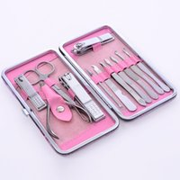 12pcs Set Lady Nail Clippers Set Stainless Steel Nail Trimme...
