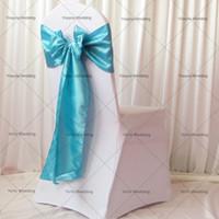 サンプル注文リンク:1ピースホワイトスパンデックスチェアカバー1ピースオーガンザ/サテンサッシの結婚式の装飾