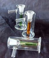 Glasfilter Hookah Hookah [kleine Hand], Großhandelsglasbong, gelegentliche Anlieferung der Farbe, freies Verschiffen, großes besseres