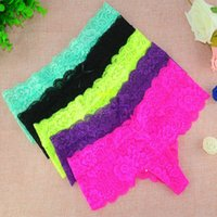 Women Panties Bragas Thong G String Lace Lingerie 6 Colors S...