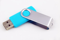 50pcs Promotion pendrive 64GB popular USB Flash Drive Good GIFT DISK rotational style memory stick with DHL Fedex