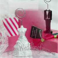 Freies Shipping + 100pcs Hochzeits-Dekoration-Braut-und Bräutigam-Platz-Kartenhalter-Hochzeits-Bevorzugungen, Partei-Geschenke, Kartenhalter-Gastgeschenke
