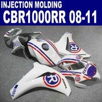 Juego de carrocería de moldeo por inyección Set para HONDA CBR1000RR 2008-2011 Carnaciales CBR 1000 RR Blanco azul Repsol Kit de carenado personalizado 08 09 10 11 # u62
