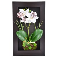 Home Decor 3d Simulation Plant Frame Artificial Flowers Orch...