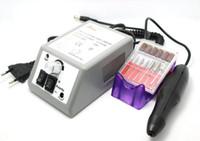 Tropfenverschiffen Nagel-Kunst-Ausrüstungs-Maniküre bearbeitet graues elektrisches Nagel-Bohrgerät-Maschinen-Satz-Kit der Pediküre-Acrylfarben