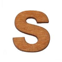 """Beijia Wood Verzierungen Erkenntnisse Alphabet / Buchstabe """"S"""" Natural 23 mm x 20 mm (7/8 """"x 6/8""""), 300 Stück"""