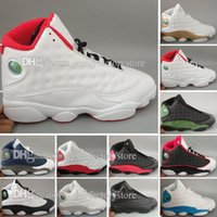 Hot retro 13 man basketball shoes Cheap new arrived Olive Hy...