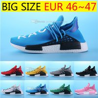 Cheap Pharrell Williams NMD HUMAN RACE In Yellow red black b...
