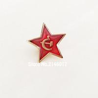10 stücke Russland Roten Stern Hammer Sichel Logo Anstecknadeln Brosche Kommunismus Sowjetunion UdSSR Pin Kalten Krieges Souvenir Abzeichen 20mm