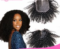 6A Quality Afro Kinky Curly Closure 4*4 Top Closure Human Ha...