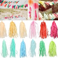 Design Tassue Paper Tassels per Wedding Party Gold Garland Bunting Pom