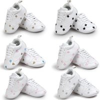 Romirus heart star Lace- up Baby Moccasins Soft Soled leisure...