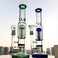 free DHL colored mouthpiece Glass bongs with 8 arms tree per...