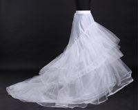 Günstige Weiße Tüll Brautkleider Petticoat Zug Petticoats 3 Reifen 4 Schichten A-line Langes Kleid Kleid Unterrock Brautkleid Krinoline