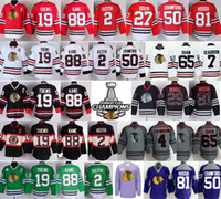 Factory Outlet, Chicago Maillots Blackhawks Hockey Rouge 88 Patrick Kane 19 Jonathan Toews 2 Duncan Keith 7 Seabrook 50 Crawford 65 Shaw 81 Hos
