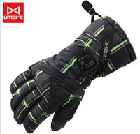 High quality Men waterproof skiing gloves windproof snowboar...