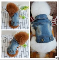 New Fashion Pet Puppy Cat Denim Vest Personalized Dog Clothe...