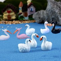 8pcs Kawaii Mandarin Duck Swan Flamingos Beach Seaside mini ...