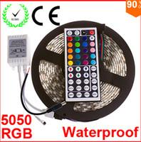5M 가동 가능한 RGB LED 빛 지구 16ft 5050 SMD 5M 300 LEDs 방수 리모트 관제사와 가진 LED 빛 CE RoHs 크리스마스 빛