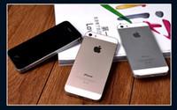 """Refubished فون 100٪ الأصل ابل اي فون 5S الهاتف الذكي 16G IOS ثنائي النواة 4.0 """"الخليوي مقفلة DHL مجانا"""