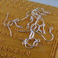 200 шт. / Лот Горячий стерлингов 925 серебряные выводы серебра, выводы для рыболовных крюков для рыбных изделий DIY 15 мм рыбы крюк подходит серьги французские крючки 925 ухо
