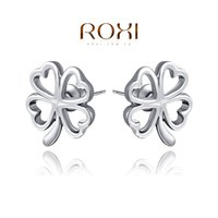 015 ROXI Free Shipping Christmas Gift Four Leaf Clover Earri...