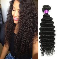 Дешевые бразильский глубокая волна волос 4 шт. / лот Бесплатная доставка бразильский глубокая волна 6A необработанные девственные бразильские волосы 4 пучка глубокая волна вьющиеся
