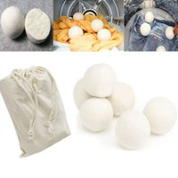 6pcs Lot Wool Dryer Balls Reduce Wrinkles Reusable Natural F...