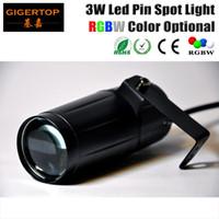 3W LED Pin Spot Light Cree RGBW Opcional Efecto de haz de punto de LED para Party Club Led Iluminación de escenario Certificado CE