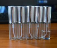 도매 공장 가격 5ML / 10ml 금속 알루미늄 빈 유리 향수 리필용 병 스프레이 향수 원자로 병 DHL / 페덱스 무료 배송