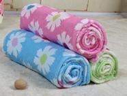 jeu towelcloth serviette de bain imprimé floral visage serviettes cheveux serviettes de plage de fleurs en microfibre 70 * 145cm / 28 « » * 57 « »