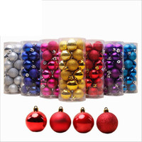 24pcs / pack 4cm Arbre De Noël Décor Balle Boule Suspension Xmas Party décorations de Noël pour la maison Décorations De Noël