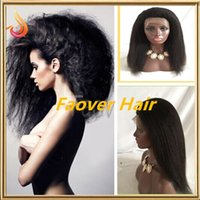 Top Malaysian Virgin Hair Afro Kinky Straight Coarse Yaki 1#...