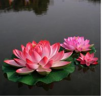 Hot selling!! Beautiful Artificial Lotus Flower Floating Wat...