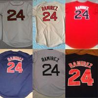 Boston 2007 WS Jersey 24 Manny Ramirez 3 David Ross 15 Dustin Pedroia 18 Shane Victorino 34 DAVID ORTIZ maglie da baseball