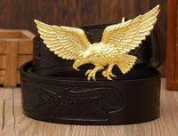 Новый Орел пояса большая пряжка бренд дизайнер ремни для мужчин медный Орел пряжки пояса мужчины и женщины талии топ коровьей ремень кожаные ремни