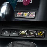 Volkswagen VW Polo Passat B5 B6 B7 Golf MK6 EOS Scirocco Jetta MK5 MK6 Araba Çıkartmaları Baskı Topuzu Renk Düğmesi