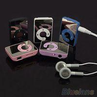 Mini Klip USB MP3 Müzik Media Player Desteği 1-8 GB Mikro SD TF + Kulaklık + Kablo 4QCL