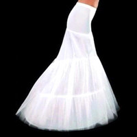 Envío gratis Sirena de bridales Petticoats 2 Hoop Crinoline para vestido de novia Falda de boda Accesorios Resbalón con tren Tallas grandes CPA214